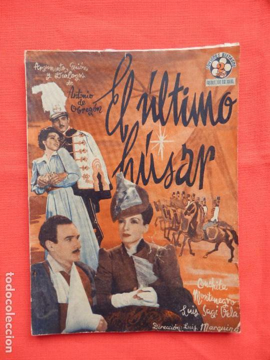 EL ULTIMO HUSAR, NOVELA EDICIONES BISTAGNE AÑOS 30, C. MONTENEGRO (Cine - Foto-Films y Cine-Novelas)