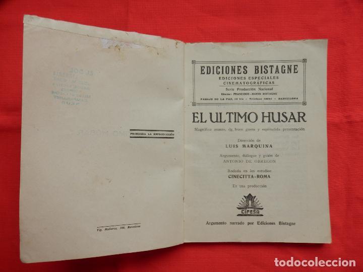 Cine: EL ULTIMO HUSAR, NOVELA EDICIONES BISTAGNE AÑOS 30, C. MONTENEGRO - Foto 2 - 64780163