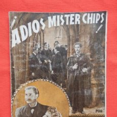Cine: ADIOS MISTER CHIPS, NOVELA EDIC. RIALTO, ROBERT DONAT GREER GARSON, 1944. Lote 64781371