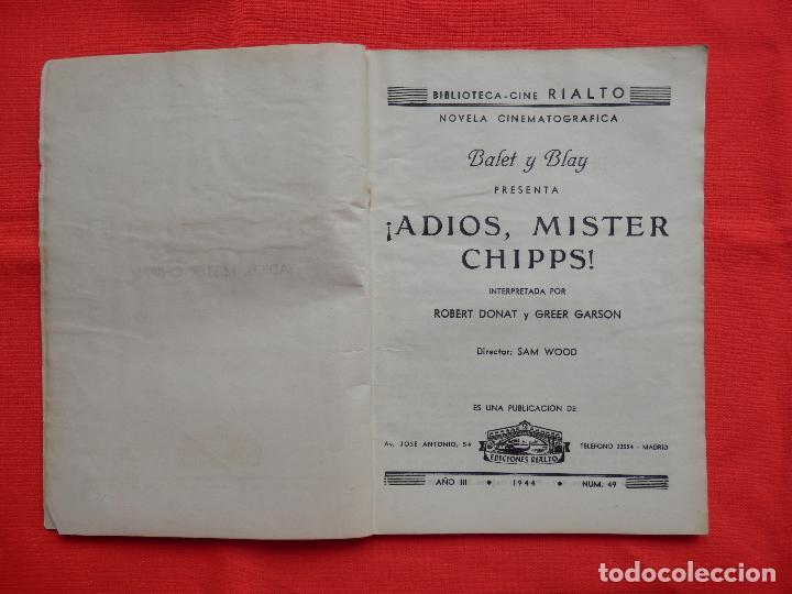 Cine: adios mister chips, novela edic. rialto, robert donat greer garson, 1944 - Foto 2 - 64781371