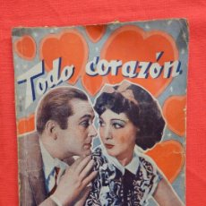 Cine: TODO CORAZON, NOVELA EDICIONES BISTAGNE, JEAN PARKER JAMES DUNN, AÑOS 30. Lote 64781899
