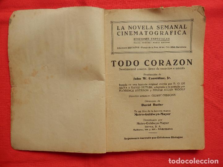 Cine: todo corazon, novela ediciones bistagne, jean parker james dunn, años 30 - Foto 2 - 64781899