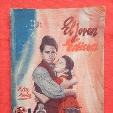 Cine: EL JOVEN EDISON, NOVELA EDICIONES BISTAGNE, MICKEY ROONEY, AÑOS 30. Lote 64782503