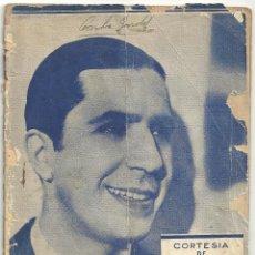 Cinema: G7219 CARLOS GARDEL LIBRITO CANCIONERO ORIGINAL CUBANO. Lote 65774250