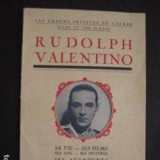 Cine: RODOLFO VALENTINO-SUS FILMS - SU VIDA - SU AVENTURA - VER FOTOS - (V- 7294). Lote 65943638