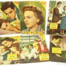 Cine: NOVELA FOTO FILM CINE ENSUEÑO,TU HIJO DEBE NACER,COMPLETA 6 FASCÍCULOS,FHER 1958. Lote 67034882