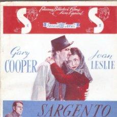 Cine: SARGENTO YORK - GARY COOPER, JOAN LESLIE - EDICIONES ALAS.. Lote 67478181