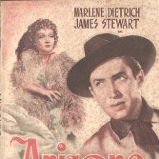 Cine: ARIZONA - MARLENE DIETRICH, JAMES STEWART - EDITORIAL GRAFIDEA, S.L.. Lote 67482701