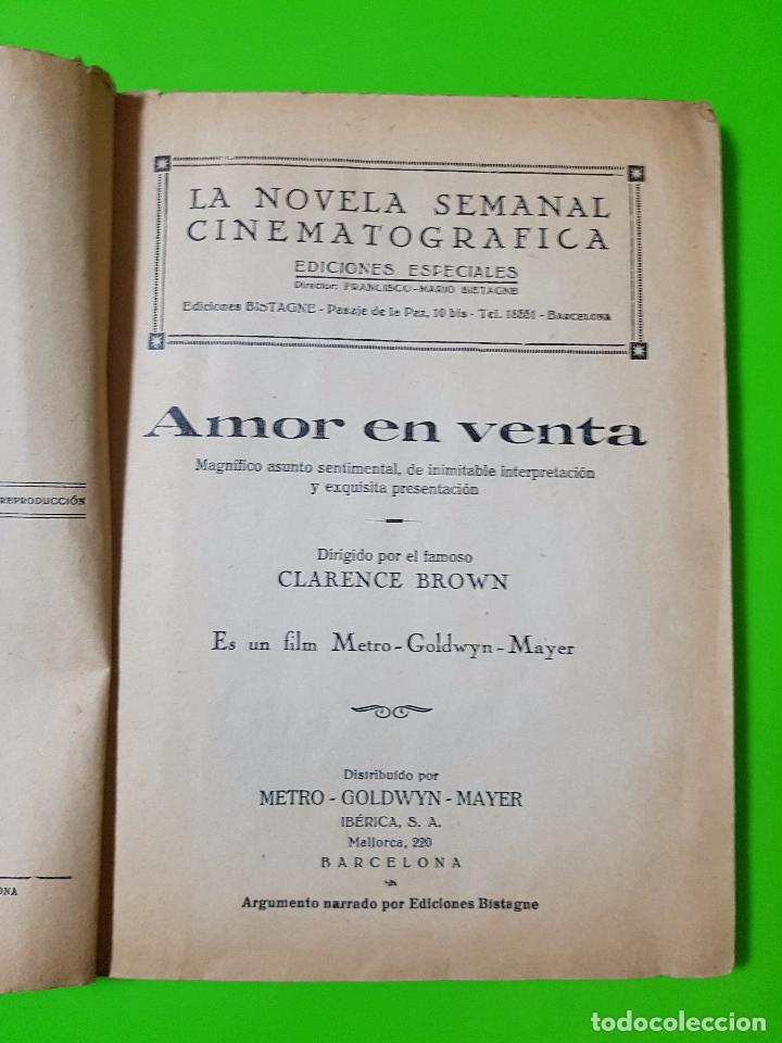 Cine: Amor en Venta (1931) Clark Gable y Joan Crawford. Film Novelado en unas 50 pgs. Rareza única aquí - Foto 2 - 72828487