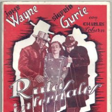 Cine: 2XL87D RUTAS INFERNALES JOHN WAYNE CHARLES COBURN NOVELA CON FOTOS EDITORIAL ALAS. Lote 74531995