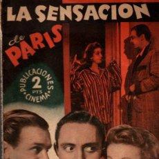 Cine: LA SENSACION DE PARIS. NOVELA BASADA EN EL FILM. DANIELLE DARRIEUX. MISCHA AUER. AÑOS 40. Lote 79131045