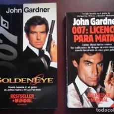 Cine: JAMES BOND. 2 NOVELAS DE JOHN GARDNER: GOLDENEYE + 007 LICENCIA PARA MATAR. Lote 79596857