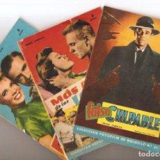 Cine: LOTE 3 FOTOFILMS DE BOLSILLO - Nº 18, 19, 21 - EDICIONES MANDOLINA, 1959.. Lote 80278573
