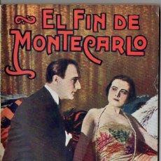 Cine: EL FIN DE MONTECARLO (NOVELA SEMANAL CINEMATOGRÁFICA, C. 1930). Lote 81128056