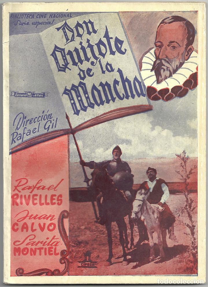 2XS36 DON QUIJOTE DE LA MANCHA RAFAEL RIVELLES JUAN CALVO NOVELA CON FOTOS EDITORIAL ALAS (Cine - Foto-Films y Cine-Novelas)