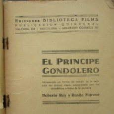 Cine: EL PRINCIPE GONDOLERO. BIBLIOTECA FILMS. ROBERTO REY. ROSITA MORENO. PARAMOUNT FILMS. 1931. Lote 151689929
