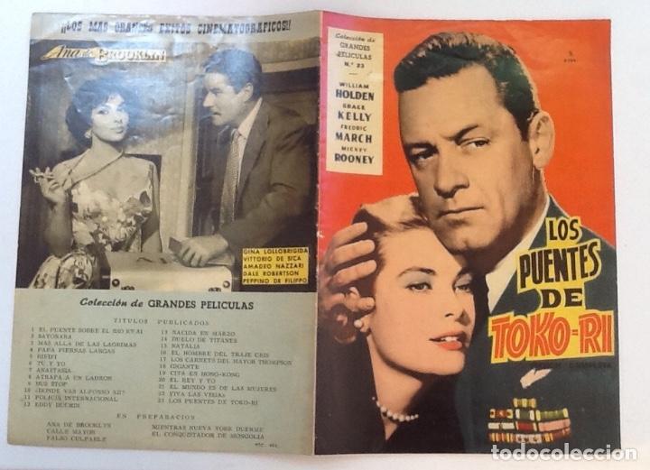 LOS PUENTES DE TOKO-RI, WILLIAM HOLDEN, GRACE KELLY, COLECCIÓN GRANDES PELÍCULAS Nº 23 (Cine - Foto-Films y Cine-Novelas)