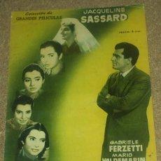 Cine: COLECCION GRANDES PELICULAS Nº 13 - NACIDA EN MARZO - MANDOLINA 1959 -ORIGINAL EN BUEN ESTADO. Lote 93002910