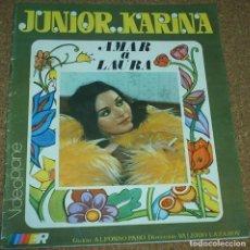 Cine: JUNIOR Y KARINA EN AMAR A LAURA - ROLLAN Nº 21 - ORIGINAL - LEER. Lote 94436470