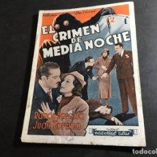 Cine: EL CRIMEN DE MEDIA NOCHE RAMON PEREDA, JUAN TORENA (COI34). Lote 95389747
