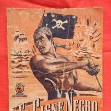 Cine: EL CISNE NEGRO, NOVELA EDIC. BISTAGNE, SERIE AVENTURAS FILMS, 48 PÁGINAS.. Lote 97147723