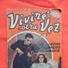 Cine: VIVIRE OTRA VEZ, NOVELA EDIC. MARAZUL, ADRIANA LAMAR, 70 PÁGINAS.. Lote 97148387