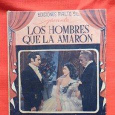 Cine: LOS HOMBRES QUE LA AMARON, NOVELA EDIC. RIALTO S.L., LORETTA YOUNG CONRAD VEIDT, 66 PÁGINAS. Lote 97148919