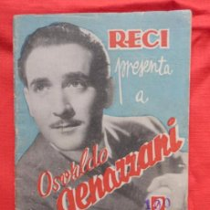 Cine: OSVALDO GENAZZANI, RECI, REPORTAJES CINEMATROGRÁFICOS, HISTORIA Y PELICULAS DE OSVALDO, 30 PÁG.. Lote 97150267