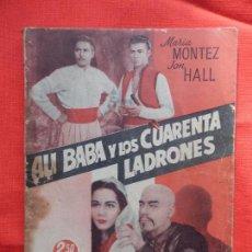 Cine: ALI BABA Y LOS CUARENTA LADRONES, NOVELA EDITORIAL GRÁFICA S.L. MARIA MONTEZ JON HALL, 61 PÁG.. Lote 97152707