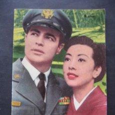 Cine: SAYONARA. MARLON BRANDO, MIIKO TAKA. WARNER BROS. ED. MANDOLINA 1959. Lote 97247499