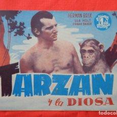 Cinema: TARZAN Y LA DIOSA, NOVELA EDIC. BISTAGNE, HERMAN BRIX ULA HOLT, 16 PÁGINAS, EXCTE. ESTADO.. Lote 97386871