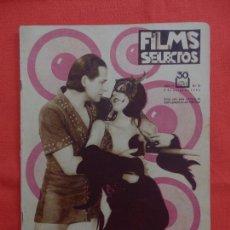 Cine: FILMS SELECTOS Nº 73, KAY JHONSON REGINALD DENNY, 5 DE MARZO DE 1932, EXCTE. ESTADO. Lote 97721127