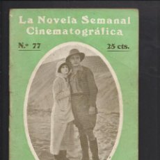 Cine: LA NOVELA CINEMATOGRÁFICA. NÚM 77. COMO LA ARENA POR PEGGY HYLAND. Lote 101126087