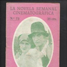 Cine: LA NOVELA CINEMATOGRÁFICA. NÚM 72 MARUXA POR PAULETTE LANDAIS Y FLORIAN REY. Lote 101126203