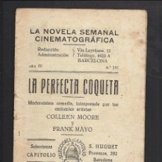 Cine: LA NOVELA CINEMATOGRÁFICA. NÚM 141. LA PERFECTA COQUETA.. Lote 101127483