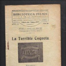 Cine: BIBLIOTECA FILMS. LA TERRIBLE COQUETA.. Lote 101127911