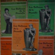 Cine: LOTE DE 5 CUADERNOS PIN UP PRE-CODE LAS BELLEZAS DE LA PANTALLA. CINE MUDO. . Lote 102346547