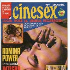 Cine: CINESEX Nº 1 - LUCÍA BOSÉ LA ABUELA ESCABROSA - ROMINA POWER EN JUSTINE - BARBARA BOUCHET. Lote 103608611