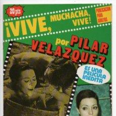 Cine: ¡VIVE, MUCHACHA, VIVE! - PILAR VELÁZQUEZ - ALDO REGGIANI - ROSSANO BRAZZI. Lote 103609267