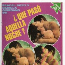 Cine: ¿QUÉ PASÓ AQUELLA NOCHE? - DANIELA GIORDANO - PASCAL PETIT. Lote 103609539