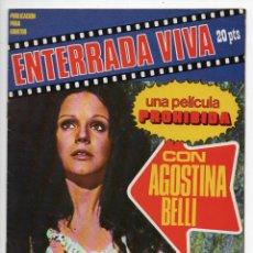 Cine: ENTERRADA VIVA - AGOSTINA BELLI - MAURIZIO BONUGLIA. Lote 103610519
