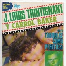 Cine: TAN DULCE COMO PERVERSA - CARROL BAKER - J. LOUIS TRINTIGNANT. Lote 103611635