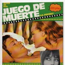 Cine: JUEGO DE MUERTE - ROMY SCHNEIDER - ALAIN DELON. Lote 103611987