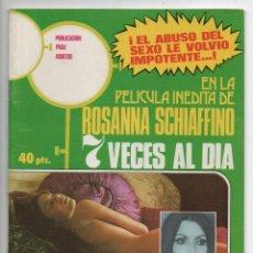 Cine: 7 VECES AL DÍA - ROSANNA SCHIAFFINO - JEAN COUTU - DALIA FRIEDLAND. Lote 103613307