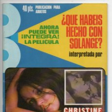 Cine: ¿QUÉ HABÉIS HECHO CON SOLANGE? - CHRISTINE GALBO - KARIN BAAL - FABIO TESTI - PILAR CASTEL. Lote 103613435