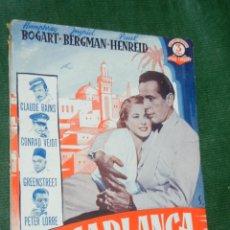 Cine: CASABLANCA - HUMPHREY BOGART, INGRID BERGMAN - SERIE TRIUNFO - EDICIONES BISTAGNE. Lote 104167559