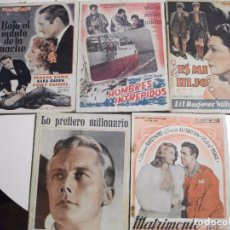 Cine: EDITORIAL ALAS - LOTE DE 5 REVISTAS DE PELICULAS - HOMBRES INTREPIDOS, LO PREFIERO MILLONARIO, ETC. Lote 104804267