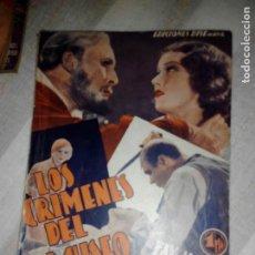 Cine: LOS CRÍMENES DEL MUSEO DE CERA AÑOS 40. Lote 105848567