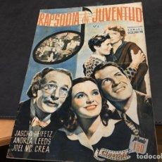 Cine: RAPSODIA DE JUVENTUD ALBUM CINEVIDA 24X17 (ED HISPANO AMERICANA) (COI53). Lote 106099359