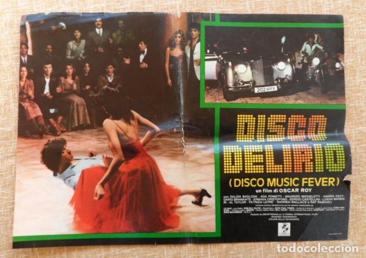 DISCO MUSIC FEVER (DISCO DELIRIO), ITALIAN PHOTOBUSTA, FOLDED, 1979, OSCAR ROY (Cine - Foto-Films y Cine-Novelas)